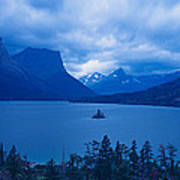 St. Mary Lake, Glacier National Park Art Print