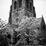 St Nicholas Church Including Graveyard Containing Grave Of Mildred Washington Grandmother Of George  Art Print