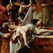 St Sebastian Thrown Into The Cloaca Maxima Art Print