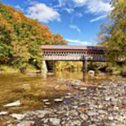 State Road Covered Bridge Art Print