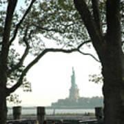 Statue Of Liberty From Ellis Island Art Print by Frank Mari