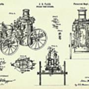 Steam Fire Engine-1896 Art Print
