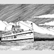 Steamship Virginia V Art Print