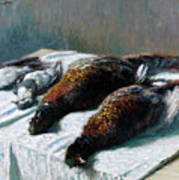 Still Life With Pheasants And Plovers Art Print