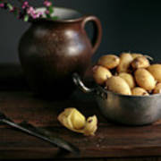 Still Life With Potatoes Art Print