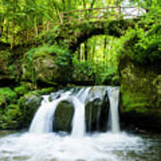 Stone Bridge Over River Art Print
