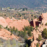 Stone Quarry At Red Rock Canyon Open Space Park Art Print