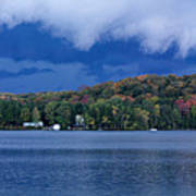 Storm Clouds Over The Lake Of Bays Art Print