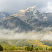 Storm On Grand Teton Art Print