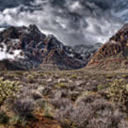 Stormy Day At Red Rock Art Print