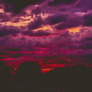 Stormy Sunset Art Print