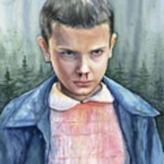 Stranger Things Eleven Portrait Art Print