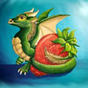 Strawberry Dragon Art Print