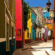 Street Of Color Guanajuato 2 Art Print