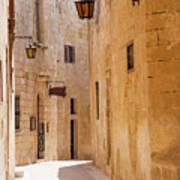 Street Sceane Mdina,malta Art Print