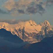 Stunning Landscape View Of The Italian Alps  Art Print