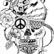 Sugar Skull #3  War And Peace Art Print