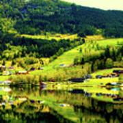 Summer In Norway Art Print