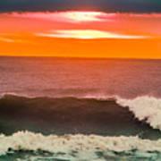 Sunrise Kissing Surf Art Print