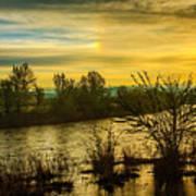 Sunrise On The Payette River Art Print