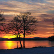 Sunrise Winnipesaukee Art Print