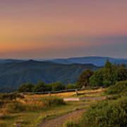 Sunset Above Craigs Hut  In The Victorian Alps, Australia Art Print