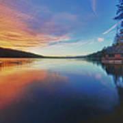 Sunset At Fallen Leaf Lake Art Print