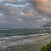 Sunset At Kapaa - Kauai Art Print