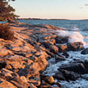 Sunset At Ocean Point, East Boothbay, Maine  -230204 Art Print
