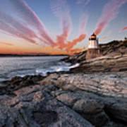 Sunset, Castle Hill Lighthouse  Art Print