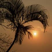 sunset Huong river Art Print