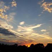 Sunset Sky Over Ohio Art Print