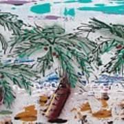 Surf N Palms Print by J R Seymour