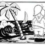 Surfer Toon 4 Art Print
