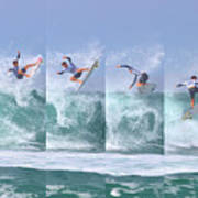 Surfing Sequence Art Print