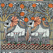 Swan Elephant Art Print