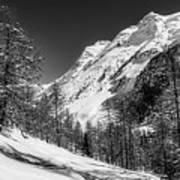 Swiss Winter Mountains Art Print