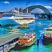 Sydney Quay Art Print