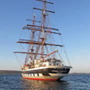 Tall Ship Anchored Off Penzance Art Print
