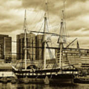 Tall Ship In Baltimore Harbor Art Print
