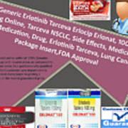 Tarceva Nsclc, Side Effects, Medicine, Cost, Medication, Drug Art Print