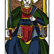 Tarot Card Justice Art Print