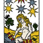 Tarot Card The Stars Art Print