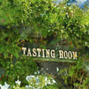 Tasting Room Sign Art Print