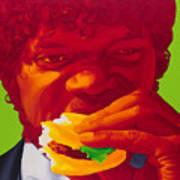 Tasty Burger Art Print