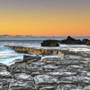 Tessellated Rock Platform And Seascape Art Print