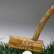 Texas Golf Putter. Art Print