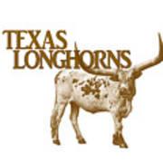 Texas Longhorns Art Print