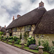 Thatched Cottages Of Hampshire 20 Art Print