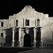 The Alamo At Night - San Antonio Texas Art Print